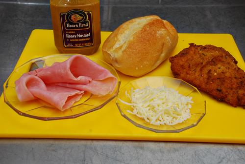 Chicken Cutlet Cordon Bleu Sandwich Recipe Ingredients