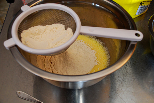 Then Add The Sugar And Melted Butter Whisk Thoroughly So There Are No Clumps Of Flour